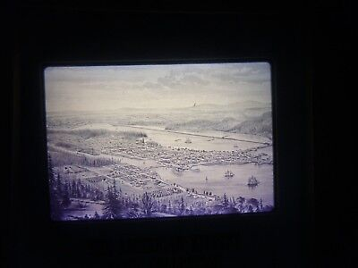 COMM Slide Photo Panoramic Map town city East Olympia trim water puget sound WA