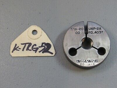 Pratt  Whitney Machinist Thread Ring Gauge 716-20 Unf-2a Go Only P.d .4037