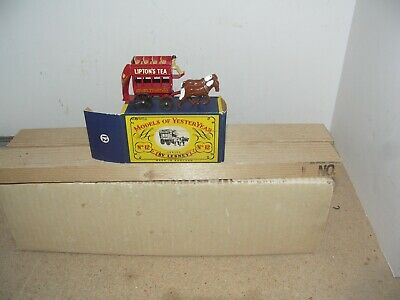 MATCH BOX LIPTON'S TEA DOUBLE DECKER 2-HORSE-DRAWN COACH, NEW/OB