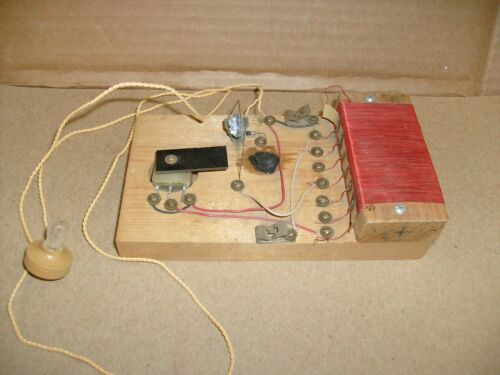 Vintage Crystal Radio Project part  kit w/ Galena Crystal and Headphone + coil