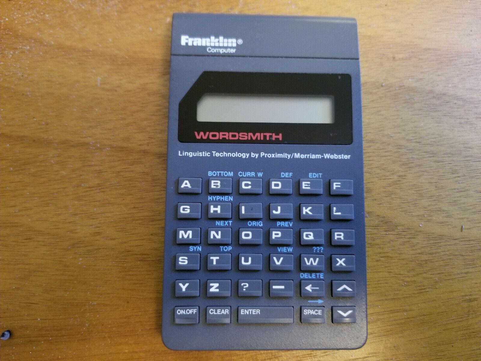 Franklin Computer Wordsmith Linguistic Technology Merriam Webster PT-440