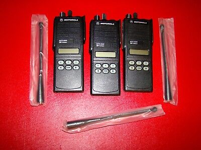 Lot Of 3 Motorola Mts 2000 Ii Flashport Two Way Uhf Radio H01ucf6pw1bn 800mhz