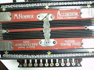 Vintage M.Hohner 10 button accordion