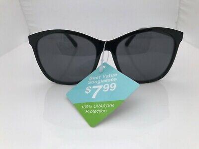 Best Value Sunglasses Black Plastic Frame 100% UVA-UVB Protection (Best Mens Frames)
