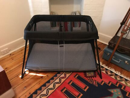 BabyBjorn Travel Cot Light Mesh and custom fitted sheet