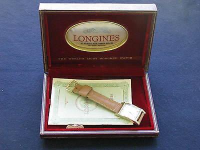 Longines Vintage 14K Gold Deco Wrist Watch w/Box & Papers