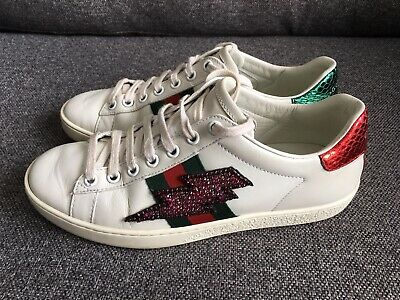 Genuine GUCCI Women's Ace Embroidered Sneakers  (Size EU 36)