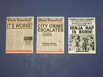 3 Newspapers for Neca 7 inch Teenage Mutant Ninja Turtles TMNT - New York