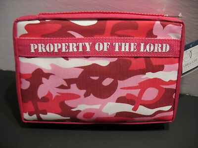 Holy Bible Cover Pink Camo Protective Book Case Tote Bag Christian Catholic