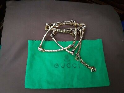 Lovely authentic vintage Gucci ladies horse bit gold-toned metal link belt