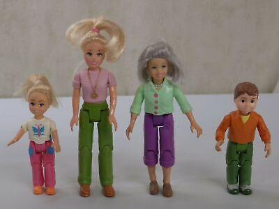 Loving Family Grandma Brother Mom Sister Dollhouse Fisher Price Figure Lot Set