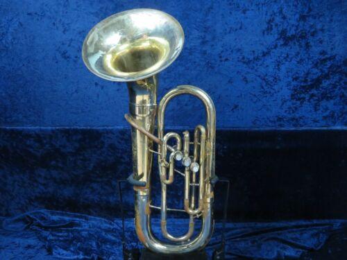 Olds Ambassador 3 Valve Baritone Horn Ser#450404 Detachable Bell Plays Well!