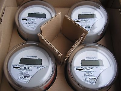 Itron Watthour Meter Kwh  Type C1sr  240V  200 Amps  Reset To Zero  Lot Of 4