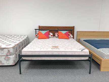 TODAY DELIVERY MODERN STRONG Queen bed & COMFORTABLE mattress