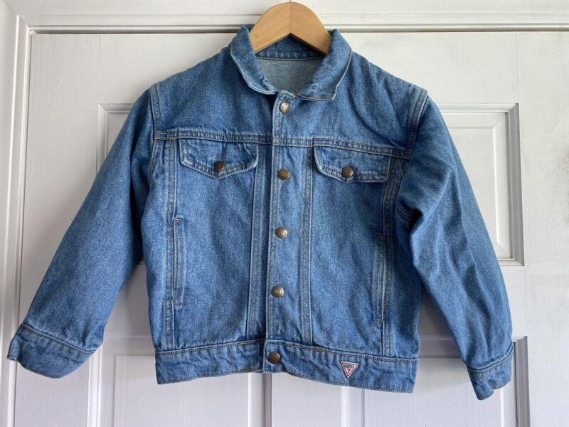 H39 Vintage Baby Guess Denim Jean Jacket Trucker Size XL 6-7