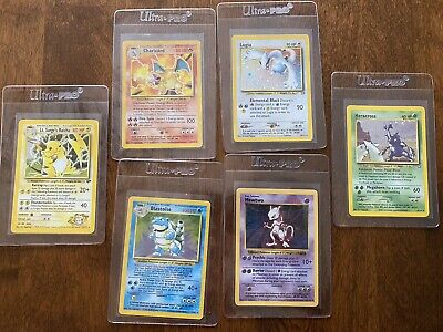 WOTC Pokemon Card Lot - BASE SET CHARIZARD & BLASTOISE - NG LUGIA - *READ DESCR*