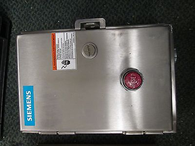 Siemens Stainless Steel Enclosed Starter 14cp12wf81 Size 0 14cp12a81 Used