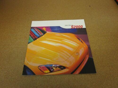 ORIGINAL 2003 Honda S2000 sales brochure 24 pg literature