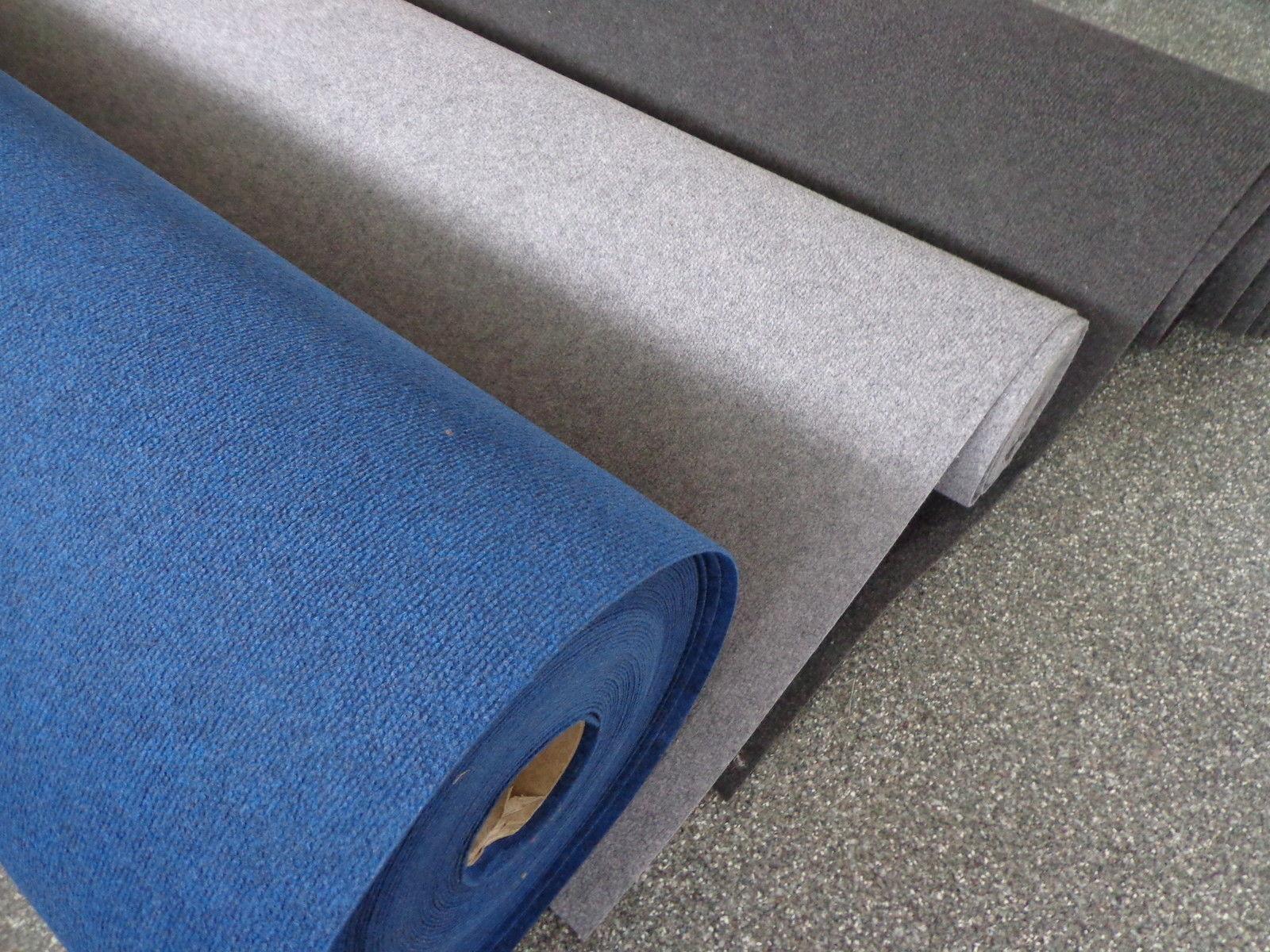 Nadelfilz Bodenbelag Schwer Entflammbar 1,50/€//m/² f/ür Events und Messen Blau 200 cm Breite 100 x 200 cm