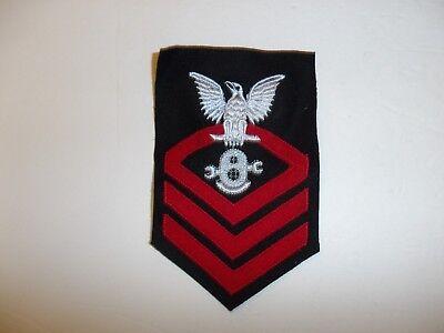 b5153 US Navy Rate 1940 -1947 Underwater Mechanic Chief Petty Officer blue IR34B