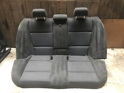 BMW E90 LCI SALOON SEATS FRONT & REAR ALCANTARA SUEDE CHARCOAL BLACK