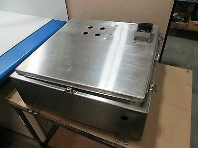 Stainless Steel Wall Mount Enclosure Dimensions 24 X 24 X 8 Holes