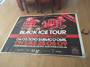 RARE AC/DC Concert Tour Gig Poster PERTH Huge!! 2009 Subi Oval Atwell Cockburn Area Preview