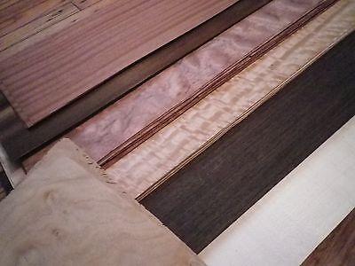23 Inch Long Mix Exotic Common Wood Veneer
