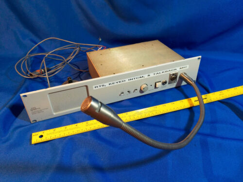 RTS Systems Intercom RMS300 w/ Micrphone & Speaker Control Room VTG Prop