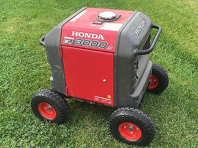 Honda Generator In Kit for EU3000is-NEVER FLAT TIRES -All Terrain!!-RED COLOR