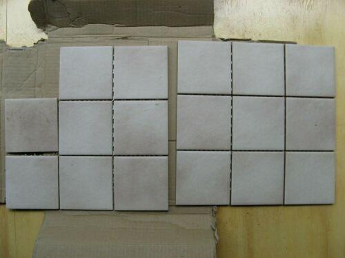 """Lot of 16 Italian Ceramic Wall Tile 4"""" Tan/Biege NEW"""