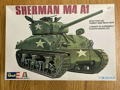 VINTAGE SEALED BAG Revell Italaerei Sherman M4 A1 Tank 1/35 Scale Kit H2127
