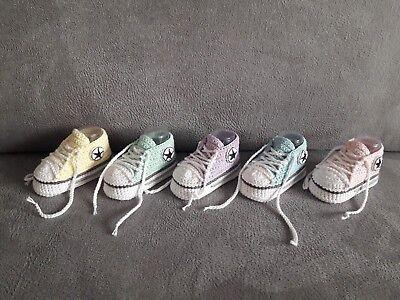 Babyschuhe / Turnschuhe gehäkelt (Handarbeit) Neu Baby Schuhe Turnschuhe