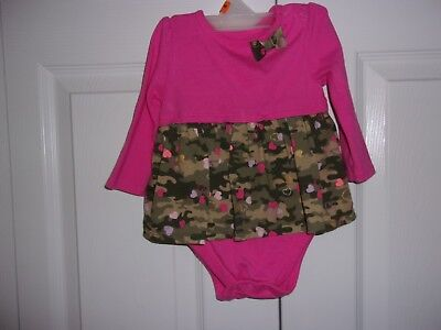 Baby Girls dress by Garanimals in size 6/9 months, hot pink and camouflage, cute (Hot Girls In Dresses)