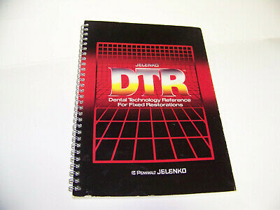 Jelenko Dtr Dental Technology Reference For Fixed Restorations 7th Edition 1983