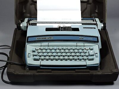 Vintage Smith-Corona SCM Coronet Super 12 Electric Portable Typewriter w/case