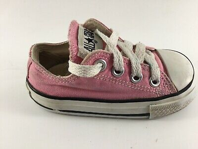 Converse All Stars Pink Low Top Shoes Size 4