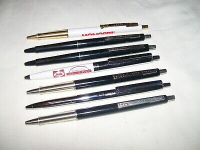 Vintage Lot of 7 PaperMate Paper Mate Pens Made in Mexico some with advertising