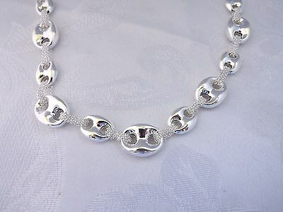 Bold Mariner Anchor Link Chain Necklace Real Sterling Silver 925 QVC  20
