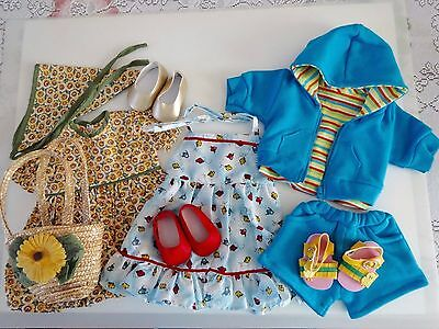 """NEW-DOLL CLOTHES -Lot #196 Dress/Shorts/Shoes Sets fit 18"""" Doll such as AG Dolls"""