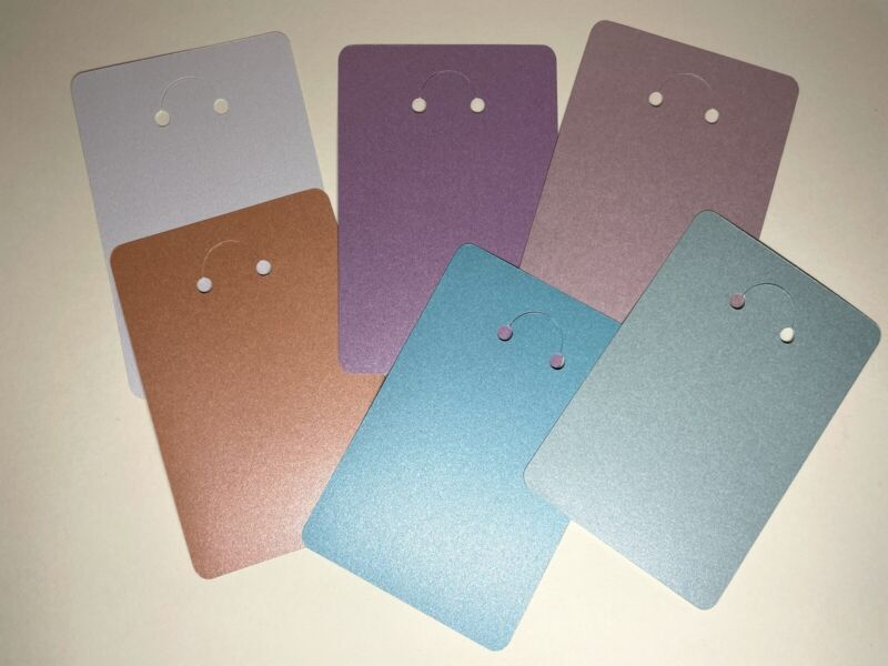 Shimmery Cardstock Packaging Display Card for DIY Keychains - 48 Display Cards