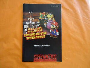 Super Mario RPG Super Nintendo SNES Manual Instruction Booklet ONLY