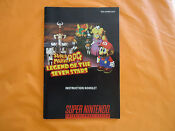 Super Mario RPG SNES Manual
