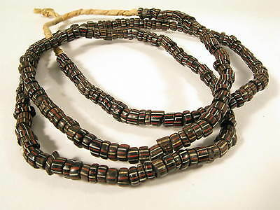 Alte Glasperlen Striped Pound Handelsperlen Old Glass Trade beads Africa Afrozip