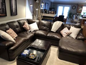 Leather Detachable Sectional Couch