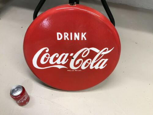 """""""COCA COLA"""" HEAVY PORCELAIN BUTTON SIGN (18"""" INCH) NICE SIGN"""