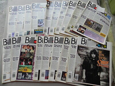 1989  BILLBOARD Magazine Lot of 19 Weeks you get 19 Magazines all have label