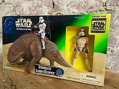 + KENNER STAR WARS POWER OF THE FORCE DEWBACK AND SANDTROOPER POTF 1997 JAPAN +