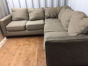 Free delivery: beautiful brown fabric sectional