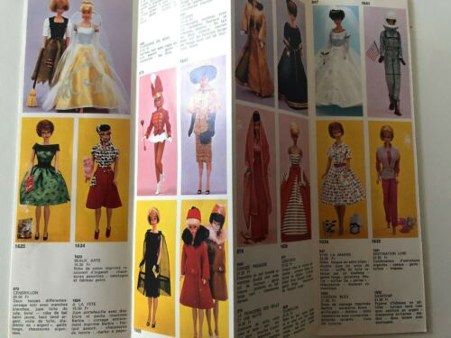 1965 SWITZERLAND MATTEL MATTEL EUROPE BARBIE catalog / fashion booklet RARE